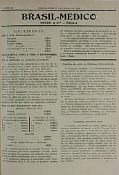 [Periódico] O Brazil-Medico : revista semanal de medicina e cirurgia, v. 52, P4, out-dez, 1938