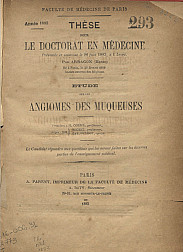 Angiomes des muqueuses.1883