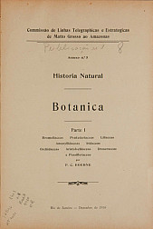 História Natural : Botanica . V.8, Publ. 8 1910