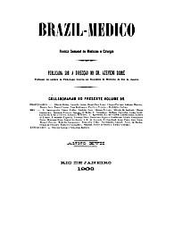 [Periódico] O Brazil-Medico : revista semanal de medicina e cirurgia, v. 17, 1903