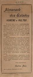 Almanack dos estados: homens e vultos. 1917