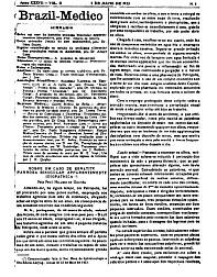 [Periódico] O Brazil-Medico : revista semanal de medicina e cirurgia, v. 37, P2, 1923