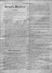[Periódico] O Brazil-Medico : revista semanal de medicina e cirurgia, v. 36, P1, jan-abr, 1922