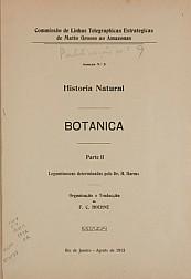 Historia Natural : Botanica . V.9, Publ. 9, Parte IV 1912