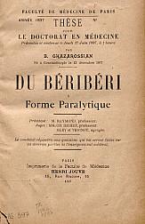 Du béribéri à forme paralytique.1897