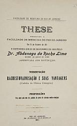 Rachistovainisação e suas vantagens .1911