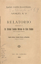 Relatório apresentado ao Sr. Coronel Candido Mariano da Silva Rondon. Publ. 54, V. 54, 1916