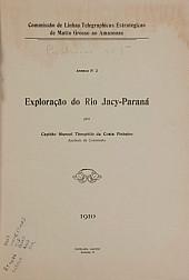 Commissão de Linhas Telegraphicas Estrategicas de Mato Grosso ao Amazonas. Pub. 5, V. 5, 1910