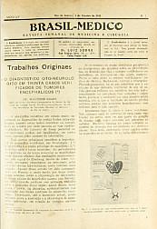 [Periódico] O Brazil-Medico : revista semanal de medicina e cirurgia, v. 55, P1, jan-abr, 1941