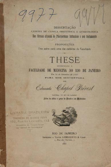 Das formas clínicas do puerperismo infeccioso e seu tratamento.1885