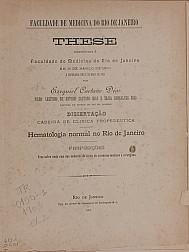 Hematologia normal no Rio de Janeiro. 1903