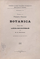 Historia Natural Parte VIII Leguminosas . Publ. 45 Vol. 45 1919