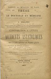 Contribution a l'étude des accidents asystoliques.1897