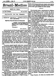 [Periódico] O Brazil-Medico : revista semanal de medicina e cirurgia, v. 39, P2, 1925