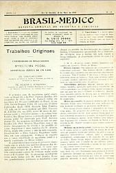 [Periódico] O Brazil-Medico : revista semanal de medicina e cirurgia, v. 55, P2, maio-ago, 1941