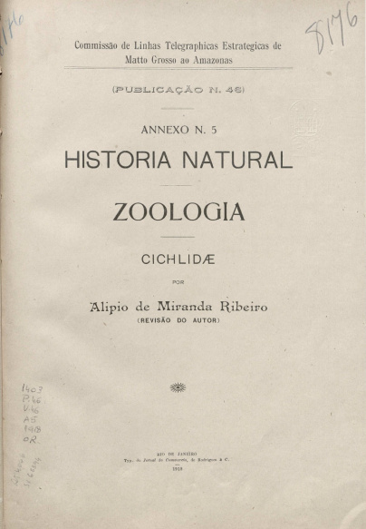 Historia Natural. Publ.46, v. 46, 1919