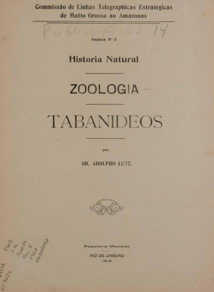 LinkHistoria Natural : Zoologia. Publ. 14 V. 14 An. 5 1912