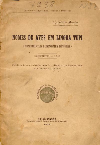 Nomes de aves em lingua tupi.1913