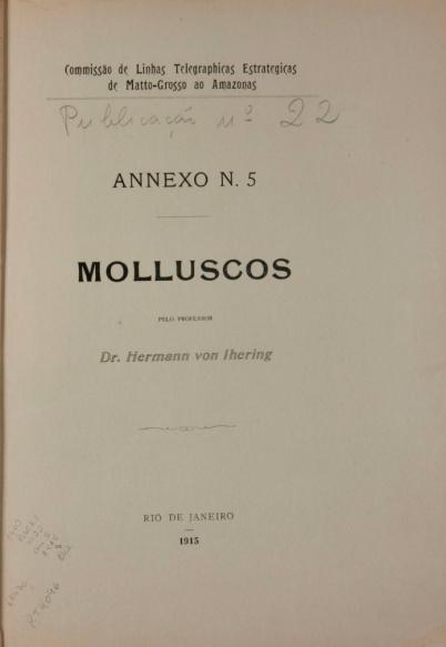 Molluscos. Publ. 22 V. 22 An.5 1915