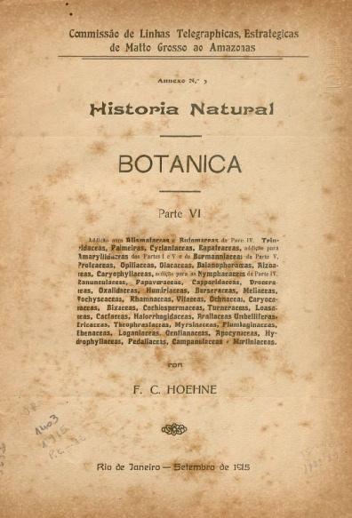 Historia Natural : Botanica. Parte VI a VIII, 1910-1915