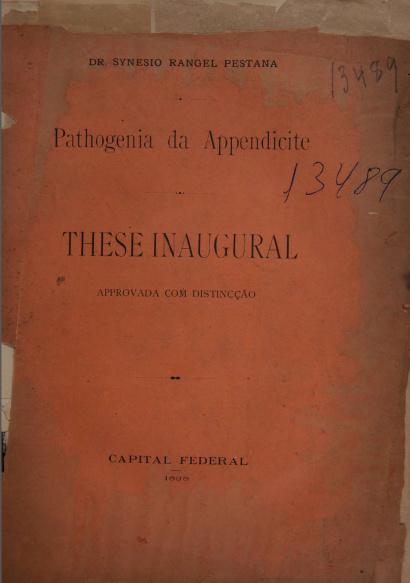 Pathogenia da appendicite.1898