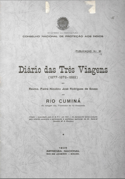 Diário das três viagens (1877-1878-1882). Publ. 91, 1946