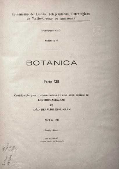 Pelo Indio e pela sua protecção official. Publ. 86 V. 86, An.5, 1923
