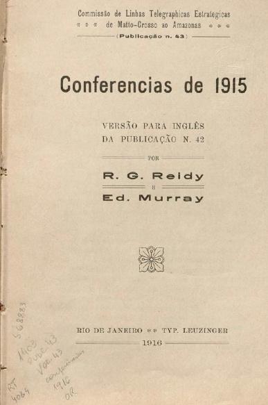 Conferencias de 1915.  Publ. 43 Vol. 43, 1916