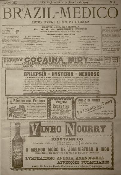 [Periódico] O Brazil-Medico : revista semanal de medicina e cirurgia, v. 19, P1, jan-jun, 1905